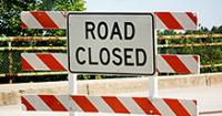 Plan ahead for road closures at popular destnations